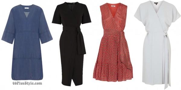 Spring dresses trends hourglass wrap | 40plusstyle.com