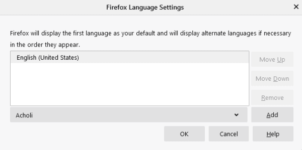 How to change the language in Firefox 4
