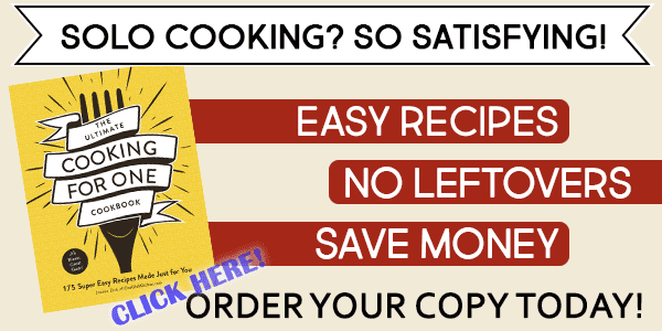 Ultimate Cooking for One Cookbook Order Link