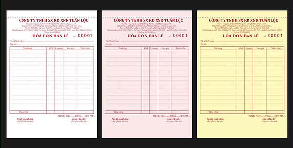 in hóa đơn bán lẻ 3 liên cacbon