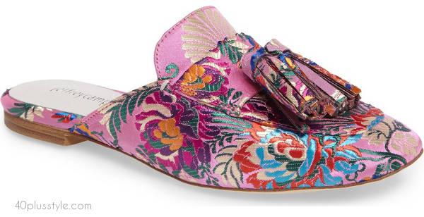 Tassel loafer mule   40plusstyle.com