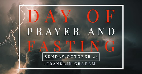 A Day of Prayer & Fasting