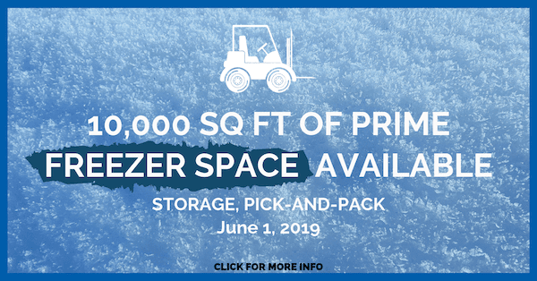 Freeze Space Available Fripp Warehousing June 2019