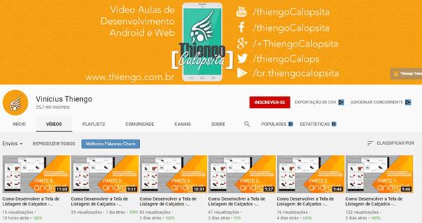 9 canais no youtube sobre programacao vinicius thiengo