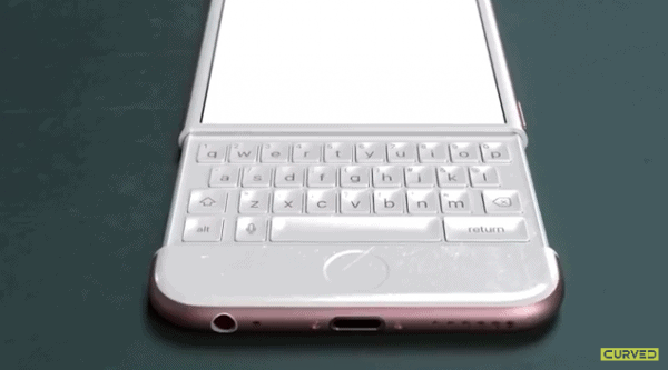 Watch iPhone 6K Concept. The iPhone 6 With Slide Out Keyboard