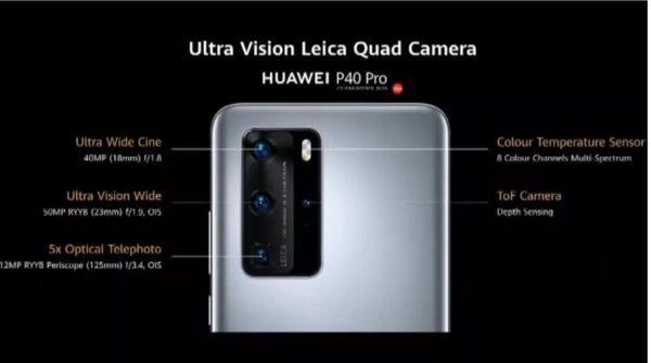 coparto fotografico Huawei P40