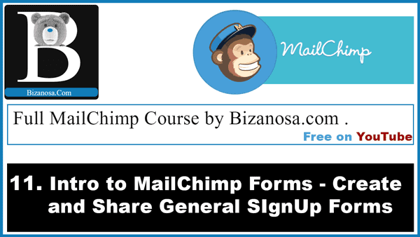 working with Signup forms in mailchimp
