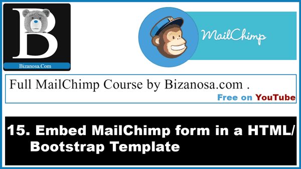 embedded forms in mailchimp. Embeding forms in HTML page