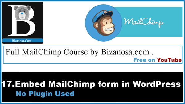 embed mailchimp signup form on wordpress