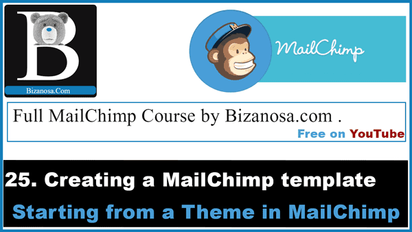 Create a simple mailchimp template from themes
