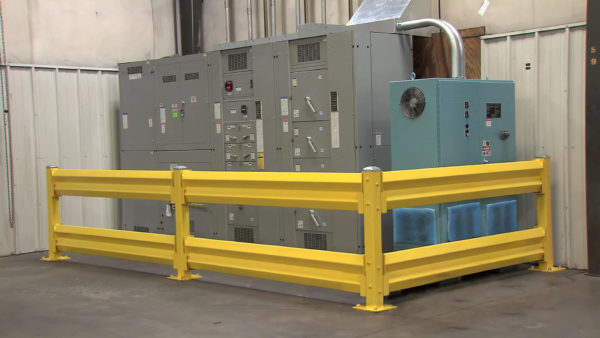 Safety Barrier protecting equipment electrical panel
