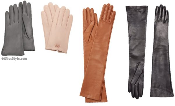 leather gloves | 40plusstyle.com