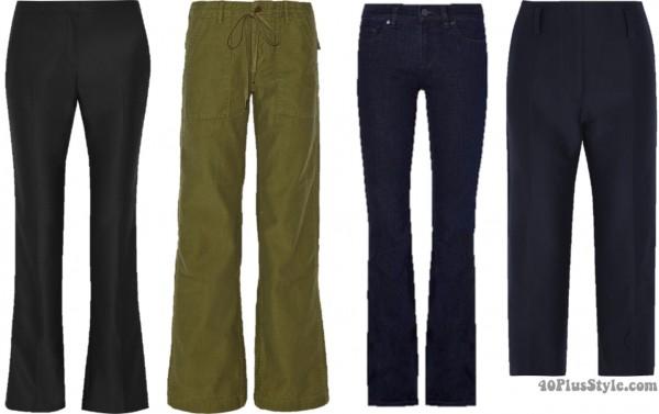 Pear shape pants looks   40plusstyle.com