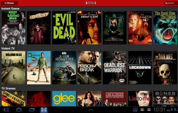 Netflix Android tablet