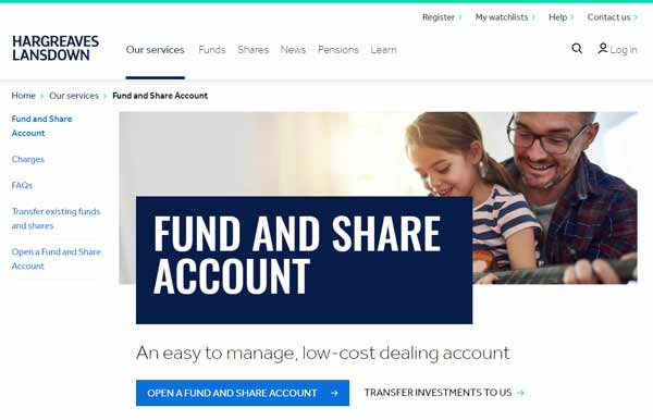 Hargreaves Lansdown Fund and Share Account