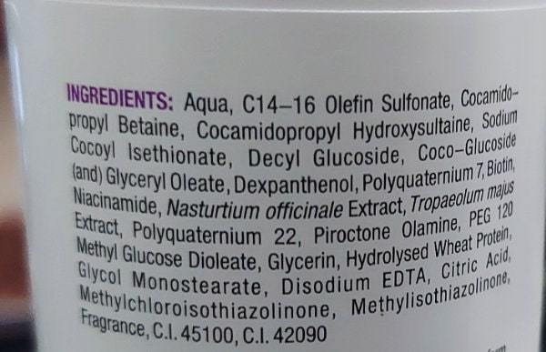 RFe'equil hair fall control shampoo - ingredients