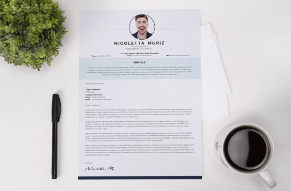 Swiss Style Cover Letter Template