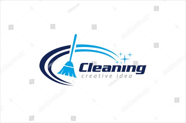 Creative Cleaning Concept Logo Designed Template