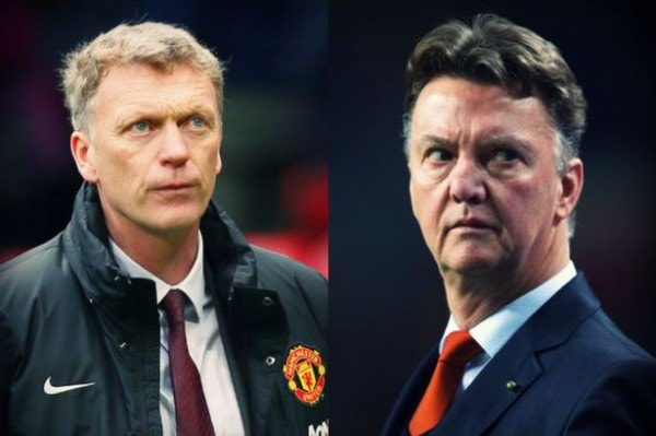 Louis Van Gaal Vs David Moyes At Manchester United After