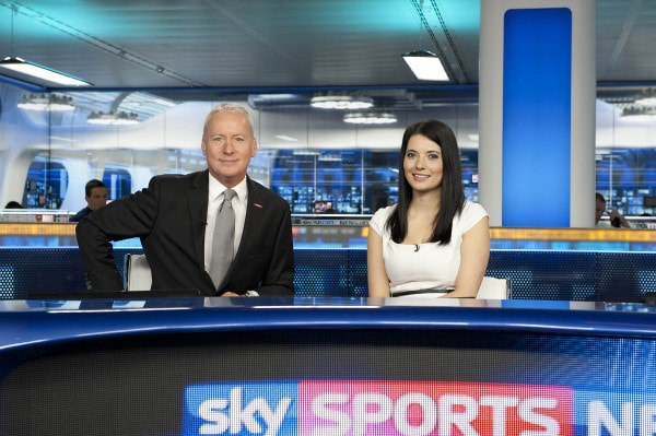 SSN on Set Jim White & Natalie Sawyer