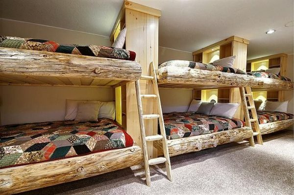 Medium Image for Incredible Reclaimed Wooden Bunk Beds For Unique Kids Beds Idea In Villa Style