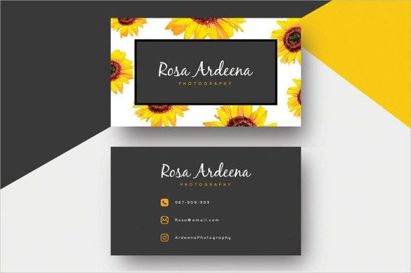 Sunflower Business Card Design