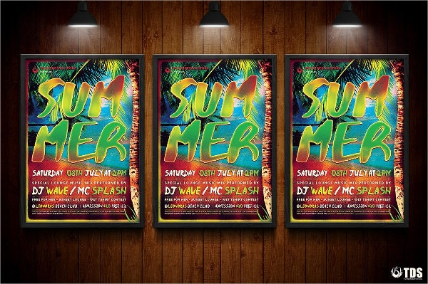 Exotic Summer Time Flyer Template