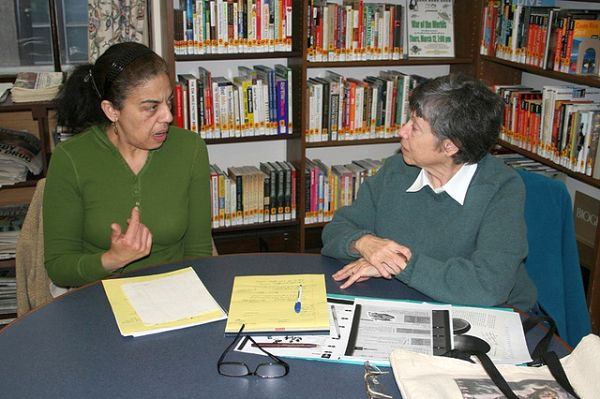 Picture: Bound Brook Library tutoring session - New Jersey Library Association. Reproduced under a Creative Commons Attribution-NonCommercial-NoDerivs 2.0 Generic (CC BY-NC-ND 2.0) licence.
