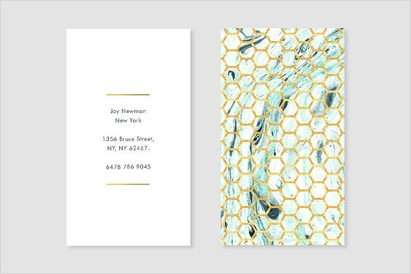 Fashion Teal Gold Business Card