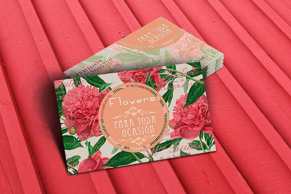 Peonies Flowers Business Card