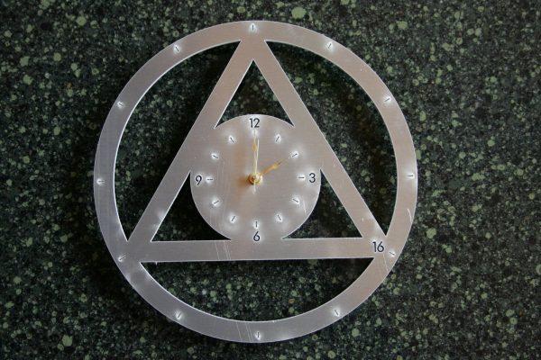 Aluminum clock