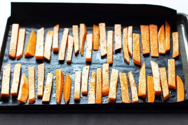 Chipotle Sweet Potatoes on Tray