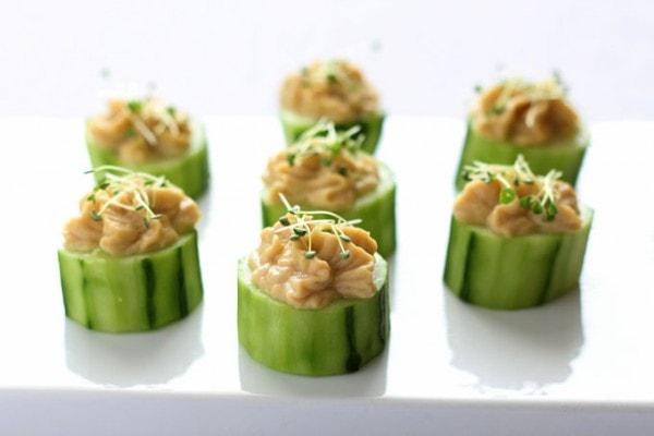 Cucumber Bites with Hummus
