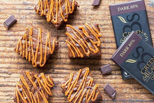 Healthy Dark Chocolate Pumpkin Brownies