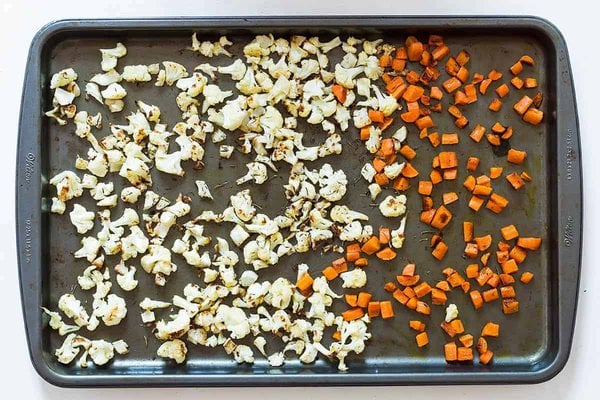 Roasted Cauliflower and Carrots