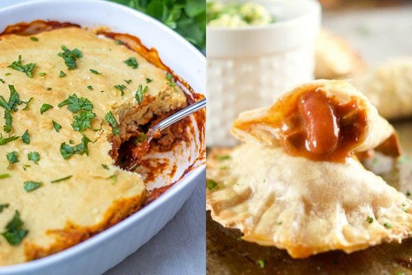 chili tamales pie and chili empanadas