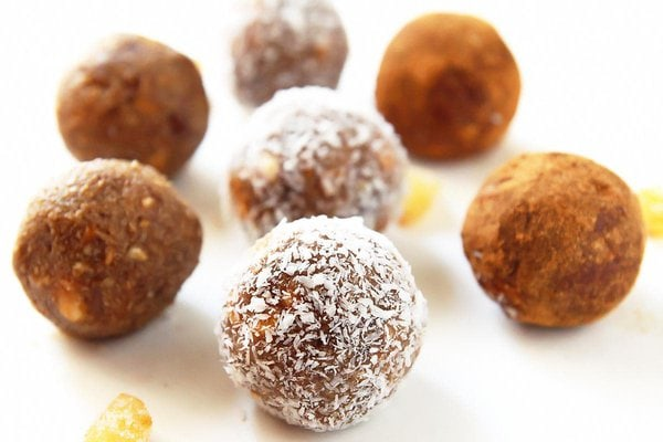 Gingerbread Energy Balls with Coconut