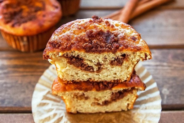 coffee cake muffins with streusel