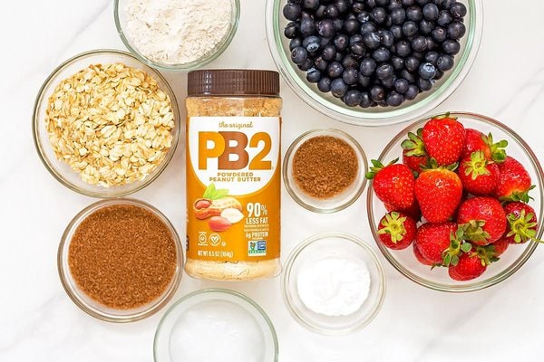 Peanut Butter Berry Crumble Ingredients