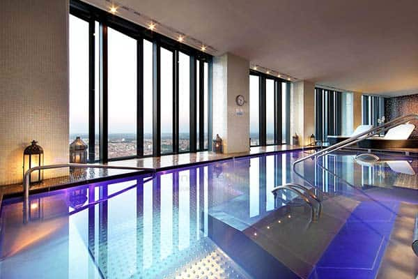 Enjoy the amazing view from high above in Eurostars Madrid Tower