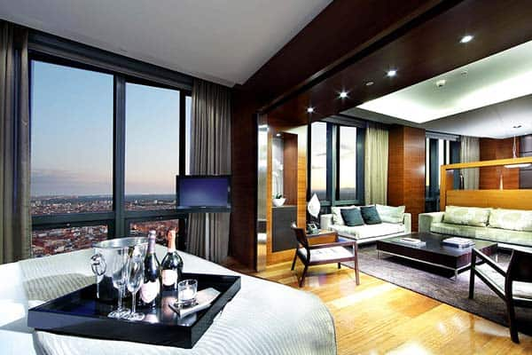 Stay in luxury at Eurostars Madrid Tower