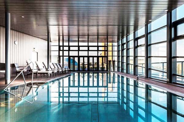 Take a dip on Grand Hyatt's rooftop pool with a view of Berlin