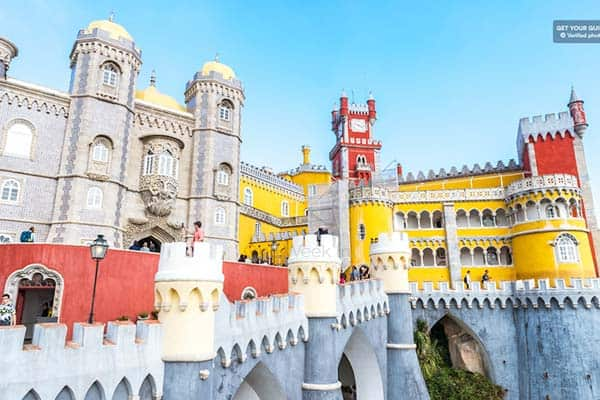 Visit the wonderful Pena Park and Palace in Sintra from Lisbon