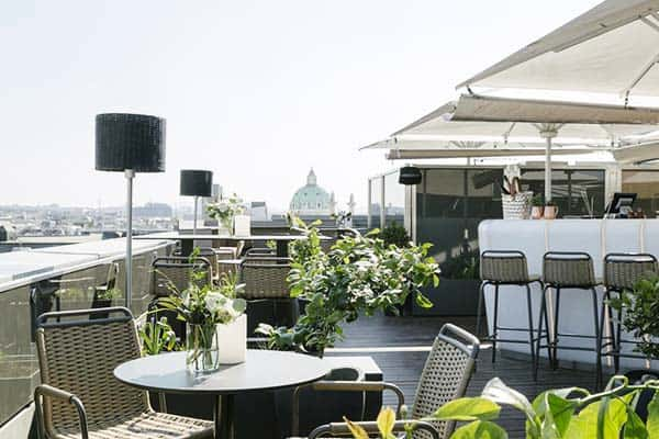 Enjoy the majestic view of Vienna from The Ritz-Carlton Vienna