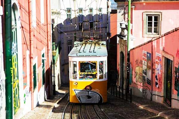 Don't miss to ride the iconic Tram 28 before you leave Lisbon