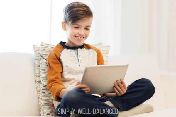 Kid playing games on Zoom with friends