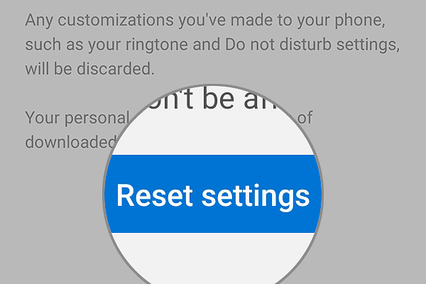 reset all settings galaxy s10 reset button
