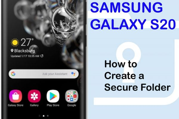 how to create a secure folder galaxy s20