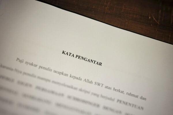 Contoh kata pengantar makalah, laporan, proposal, skripsi