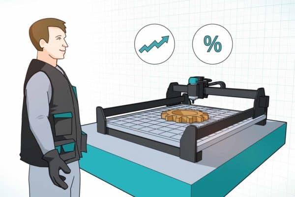 Dreidimensionalen Elemente im Erklärfilm mit 2D kombiniert.